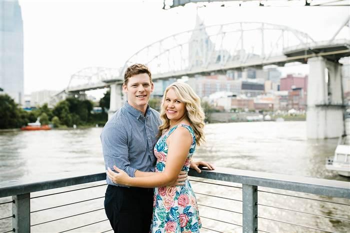 Kristen Jerkins et son fiancé.