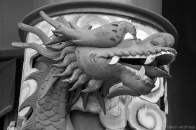 Le dragon gardien du temple chinois