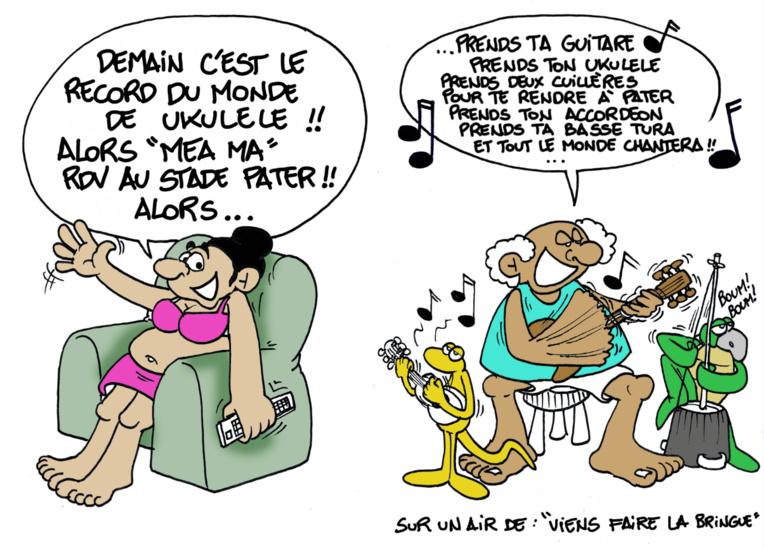 """"""" Record du monde de 'ukulele """" par Munoz"""