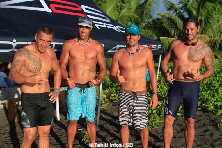 Johnston Orla, Georges Cronsteadt, Manoa Drollet et Jimmy Tiapari, les champions du jour