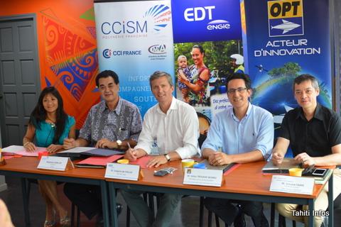 Les cinq partenaires qui ont créé la Startup Cup Polynésie sont: Avis, la CCISM, EDT, l'OPT et la banque Socredo. Le concours devrait être répété tous les ans.