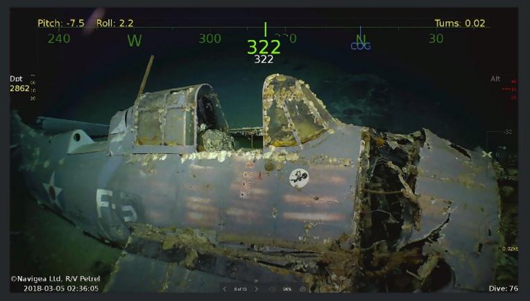 Découverte de l'épave du porte-avion américain USS Lexington