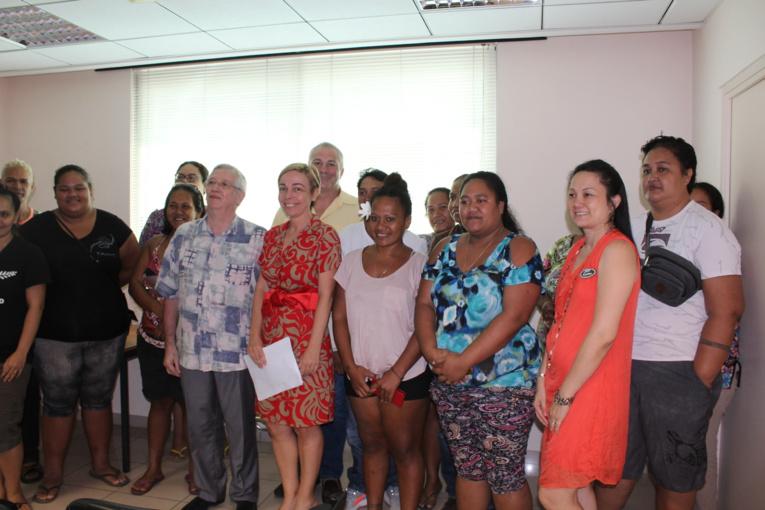 Patrick Lenôtre est allé à la rencontre mardi au Sefi de jeunes commis polynésiens.