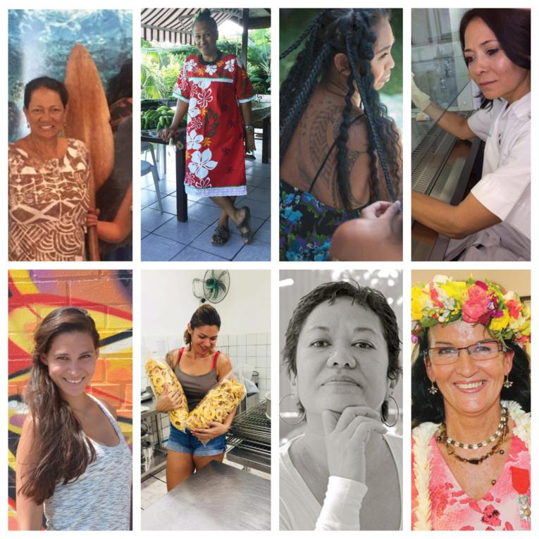 Portraits de huit femmes remarquables