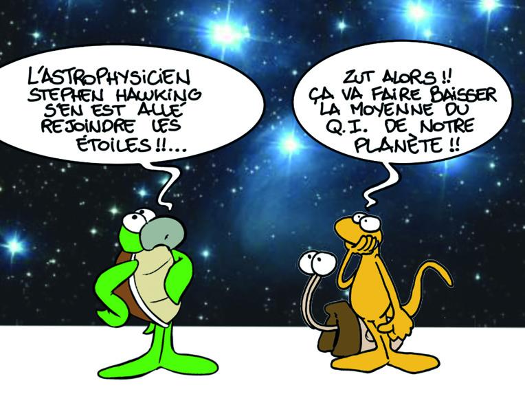 """"""" Décès de l'astrophysicien Stephen Hawking """" par Munoz"""