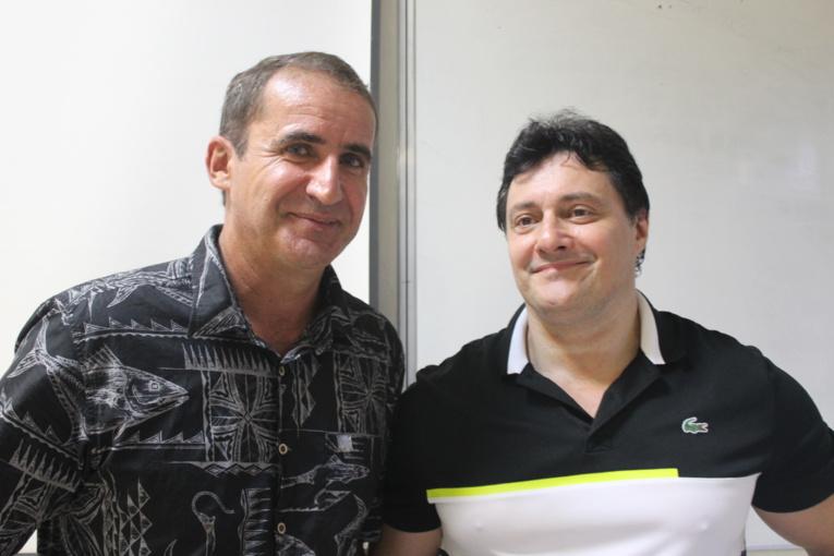 Benjamin Dubès et Philippe Bravi, tous les deux enseignants du BTS.