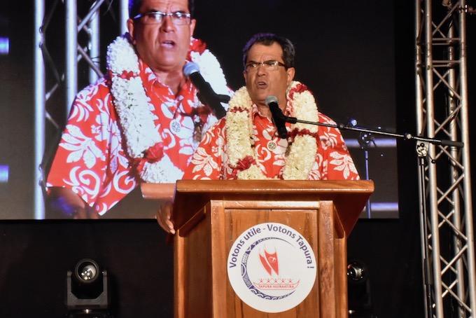 Congrès du Tapura Huiraatira : le discours d'Édouard Fritch