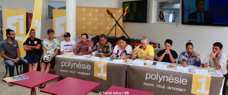 De nombreuses personnalités du sport polynésien étaient présentes à cette conférence de presse