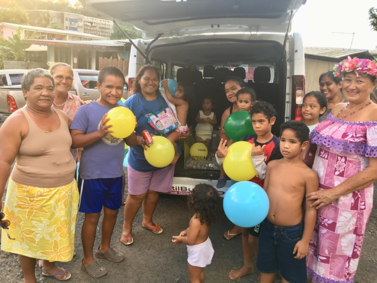 Lundi soir, l'utilbus communal s'est rendu dans le quartier de Fautaua Val.
