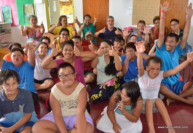 Aujourd'hui, le Centre Papa Nui accueille non seulement des trisomiques mais également des personnes atteintes de déficience intellectuelle.