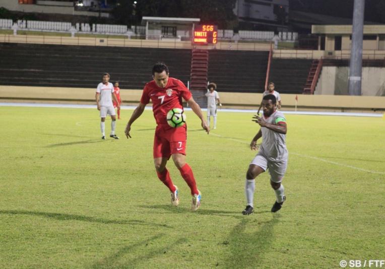 Raimana Li Fung Kuee n'avait pas joué en sélection A depuis mai 2015