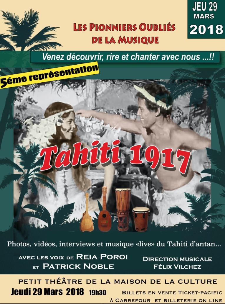 """Le spectacle """"Tahiti 1917"""" rendra hommage à Moeterauri Tetua """"Bimbo""""  jeudi soir au petit théâtre"""