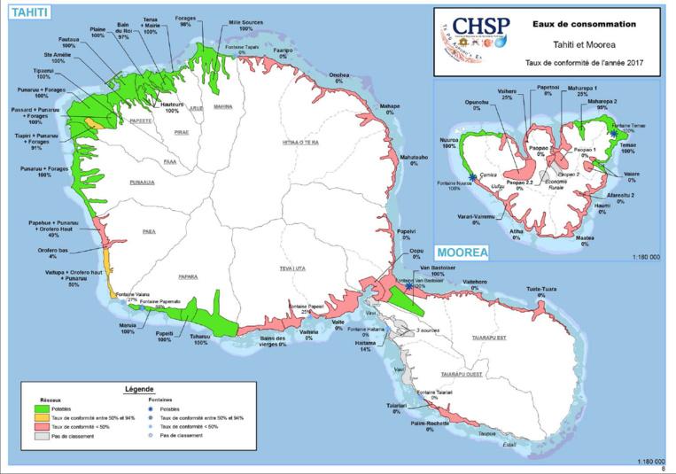 10 communes polynésiennes proposent de l'eau du robinet potable