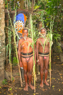 À Fanla, nous avons pu photographier les fougères sacrées, mais les chefs ont souhaité être, eux aussi, sur la photo. Leurs désirs furent des ordres.