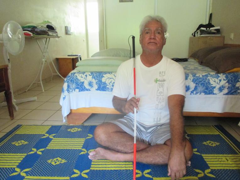 Chanterel Hauata, appelé Coco au quotidien, se fait le porte-parole des habitants handicapés de la résidence Taoe de Hamuta.