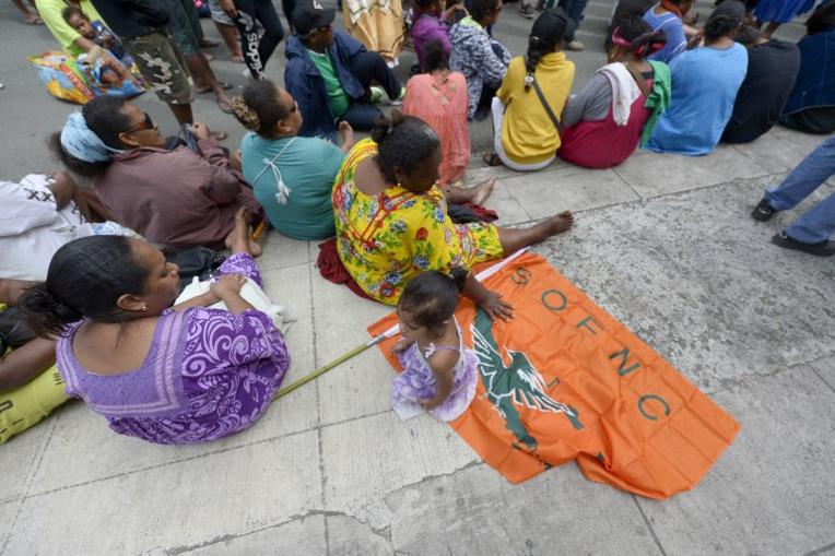 Manifestation de femmes en colère à Nouméa après un viol sordide