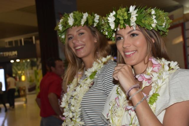 Miss Univers 2016 et Miss France 2015 au fenua
