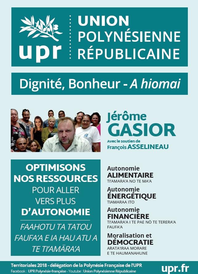 """""""Nous sommes les seuls à vouloir agir de manière pragmatique et concrète"""" (Gasior)"""