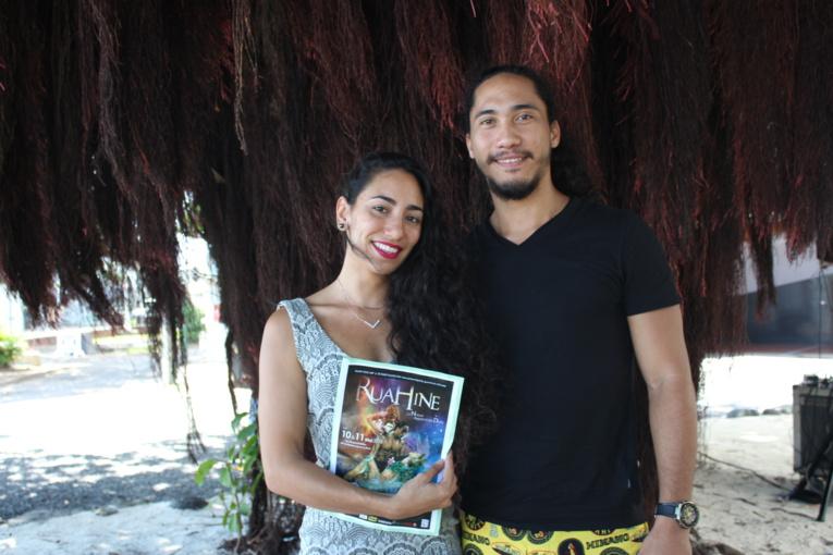 Vaiana Mahinui, directrice de l'école Tahiti Pole Art et Toanui Mahinui, professeur de 'ori tahiti au Conservatoire artistique de la Polynésie française.