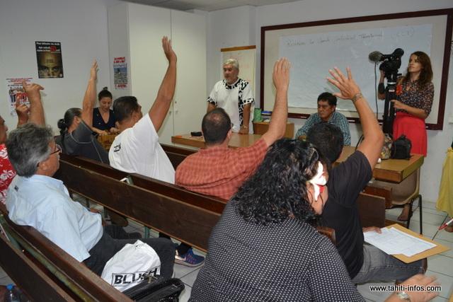 Les 29 secrétaires et trésoriers généraux présents du Comité confédéral territorial ont voté à l'unanimité pour la candidature de Jean-Paul Urima, en tant que secrétaire général par intérim de la CSTP-FO.