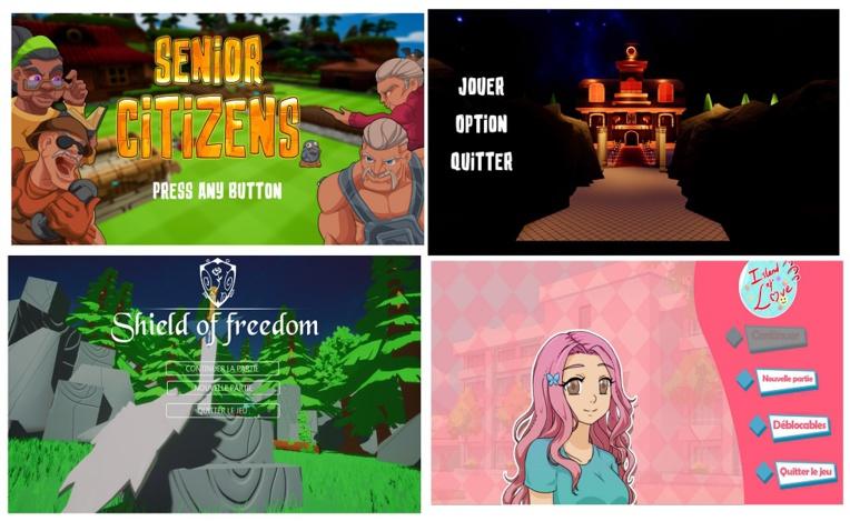Les quatre jeux produits sont Senior Citizen (équipe  Néko Soup), Fall'en Time ( Léonbro), Shield of Freedom (TATE) et Island of Love (Notice me Sempai)