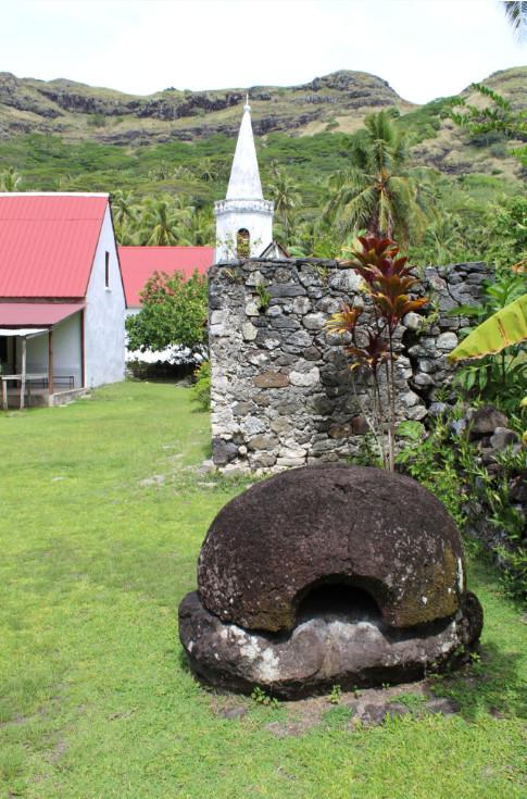 Le four à pain d'Honoré Laval, à Akamaru, où résidait le père, à deux pas de son modeste domicile et de l'église Notre-Dame de la Paix.