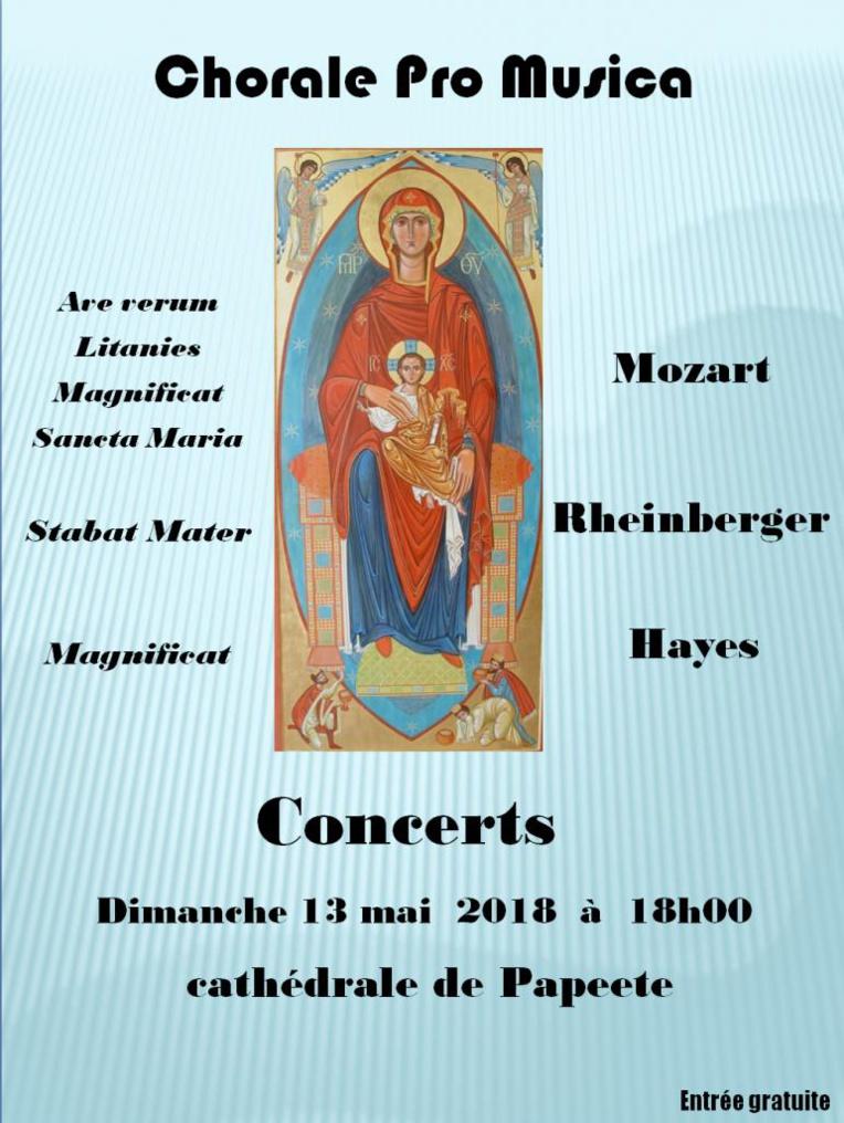 Au programme des œuvres de Mozart, Rheinberger et Hayes.