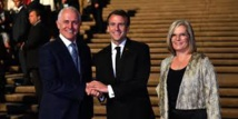 """Le web s'amuse d'une bourde """"délicieuse"""" de Macron en Australie"""