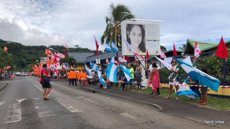 [Photos] Ambiance à Tahiti un jour d'élection