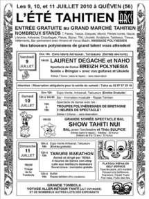 """La Polynésie au coeur de la Bretagne, 19ème édition de """"l'été Tahitien"""" à Quéven, près de Lorient en Bretagne"""