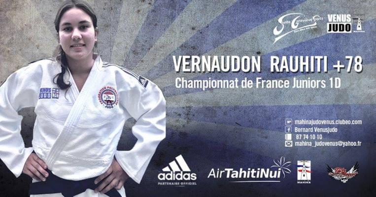 Rauhiti Vernaudon est issue du Vénus Judo club de Mahina