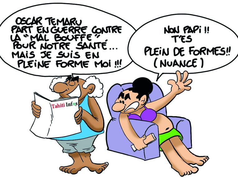 """"""" Faa'a : La lutte contre la malbouffe """" par Munoz"""
