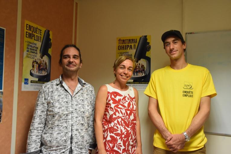 Jérémie Torterat, conseiller technique à l'ISPF, Hina Grepin, chef de service du SEFI et  Fabien Breuil, directeur de l'ISPF.