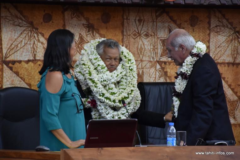Le maire de Bora Bora sera le 70e président de l'assemblée de la Polynésie française. Il a été élu sans surprise, jeudi matin, lors de la séance inaugurale de la session administrative 2018.