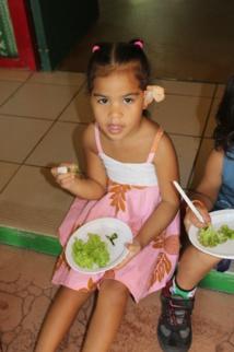 C'est salade verte pour le goûter.