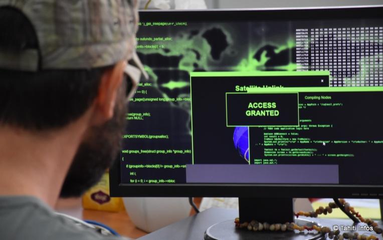 Reconstitution imaginaire du piratage du réseau de l'OPT.