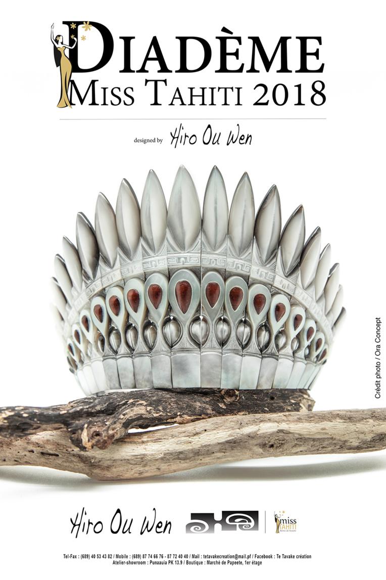 Le diadème que portera Miss Tahiti 2018 dévoilé