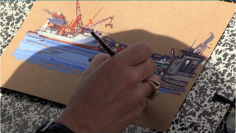 Un concours de peinture sur le thème : 250 ans après, le marin en Polynésie