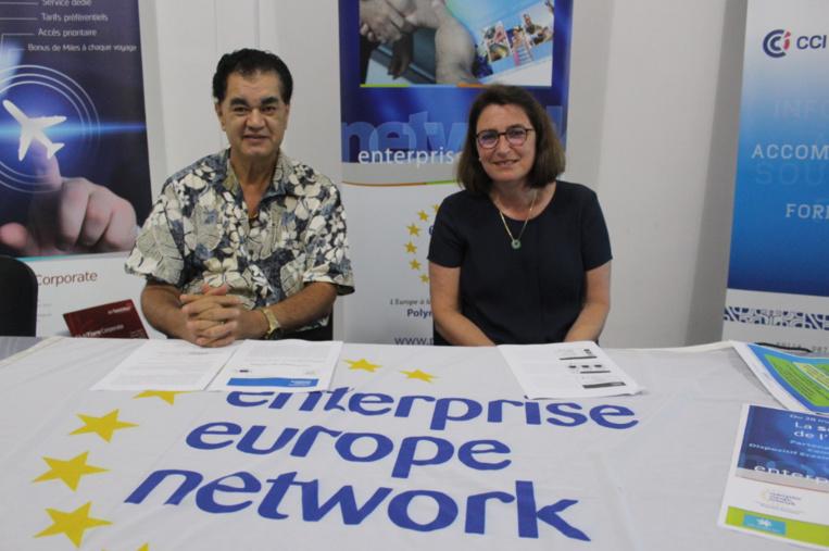 Stéphane Chin Loy, président de la CCISM et Gonda de Burin, directrice Pôle Europe développement Technologique, CCI Centre - Val de Loire.