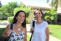 Sabine Kuhner, professeure de Lettres et Sandrine Morin, professeure documentaliste au collège de Papara.