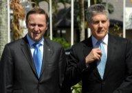 John Key, premier ministre néo-Zelandais et Stephen Smith, ministre des affaires étrangères australien