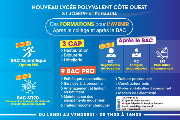 Le Lycée Saint-Joseph de Punaauia ouvre des classes de 2nde générale