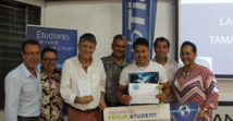 Tamatai Tevaerai, du lycée polyvalent Aorai de Pirae, lors de la remise officielle des prix.