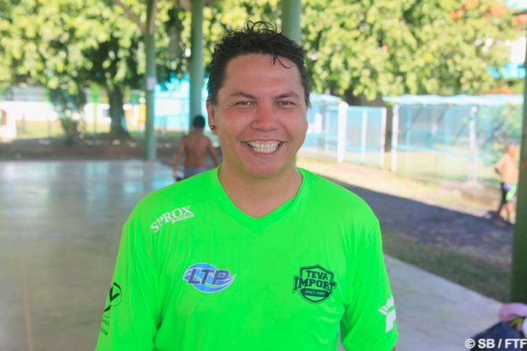Raimana Bulluc, président de l'association Air Tahiti foot & BS