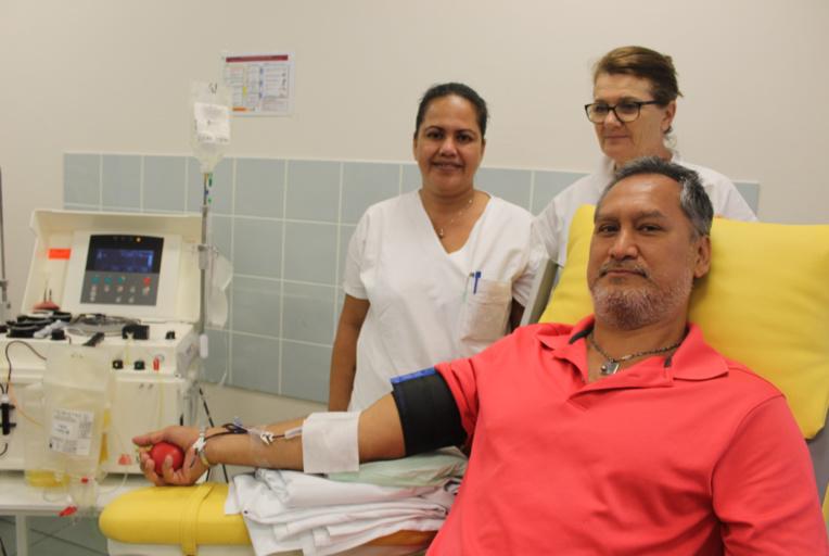 Cela fait plus de 30 ans qu'Haimana donne son sang.
