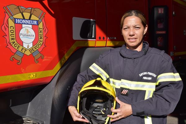 """Vaite Samg-Mouit """"il faut plus de femmes chez les pompiers permanents"""""""
