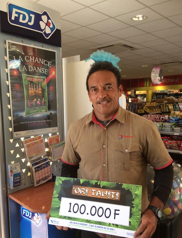Une gagnante à  100 000 Fcfp au nouveau jeu  'Ori Tahiti de la PDJ
