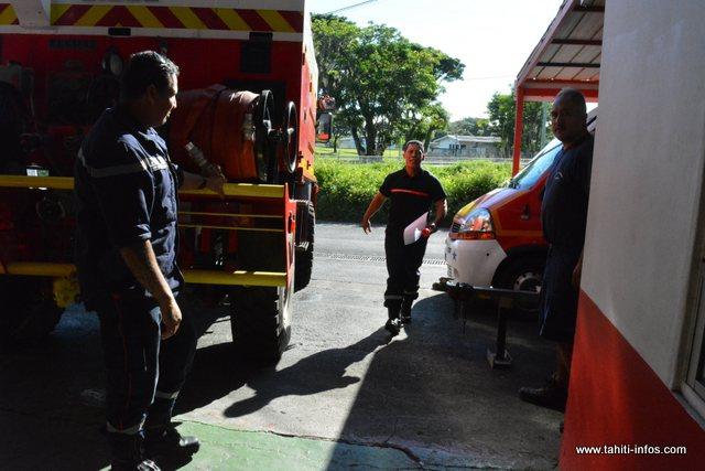 Avec 22 sapeurs-pompiers volontaires, 8 pros, la technique, le centre d'appel et l'administration, Richard Haupuni est fier de son personnel.
