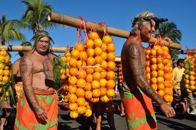 Cette année, la fête de l'orange a lieu au parc Vairai.