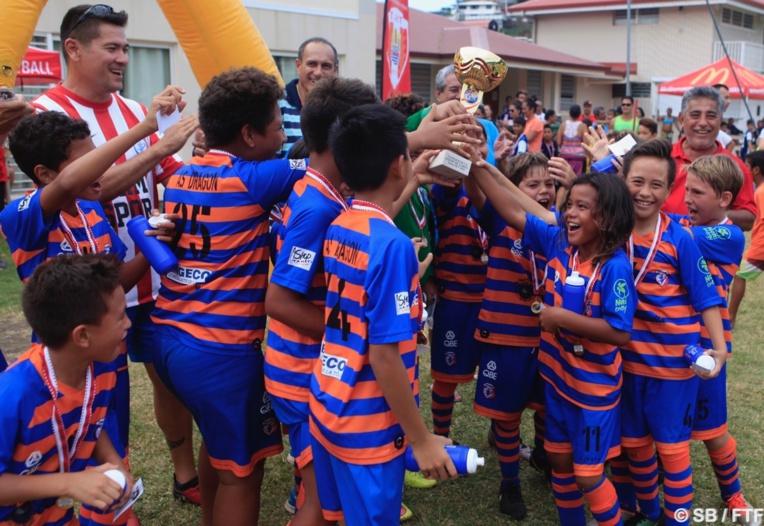 Les jeunes U11 de l'as Dragon ont remporté la Coupe de Tahiti Nui